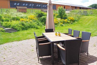 Ferienwohnung Terrasse Hühnerstall